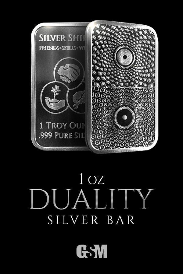 Golden State Mint Precious Metals 1 Oz Duality Silver Bar Bu In 2020 Silver Bars Silver Precious Metals