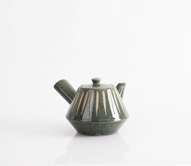 Individual Midcentury Modern Stoneware Teapot