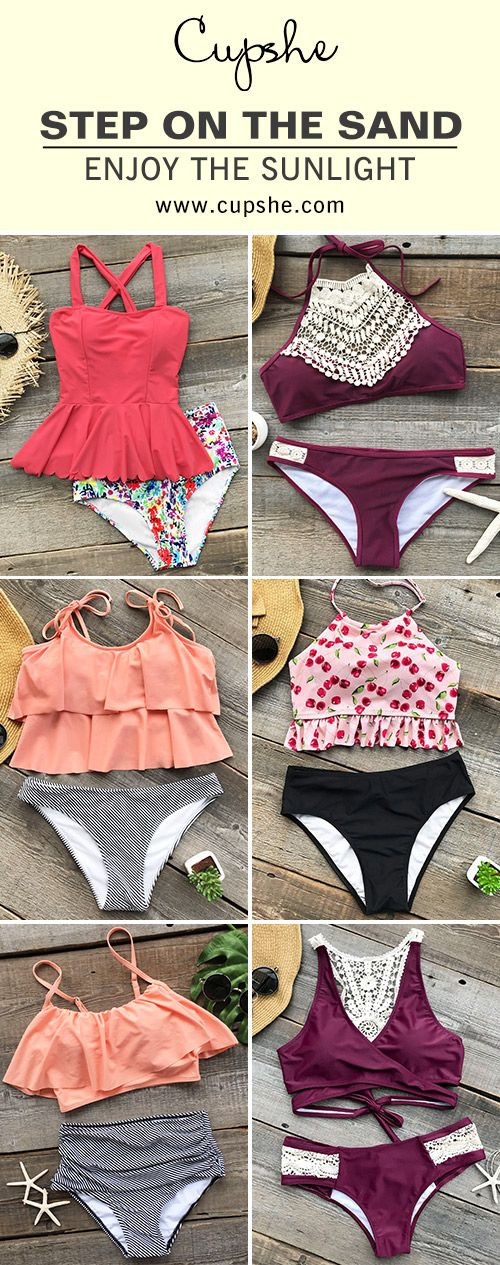 Between using up vacations and escaping the city on weekends, you need some new swimwears. With soft fabric and fresh design, you'll feel cool, comfortable and confident. FREE shipping. Pack them~