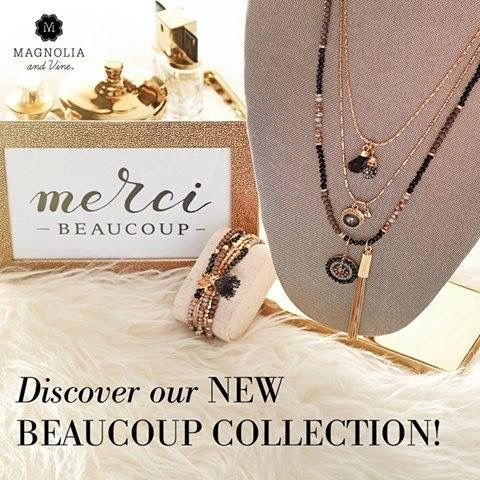 Our Beaucoup Collection is a collection of interchangeable necklace and bracelet strands designed to let YOU create your styles!  You can view and purchase Beaucoup necklace and bracelet at: www.SparkleSnaps.com