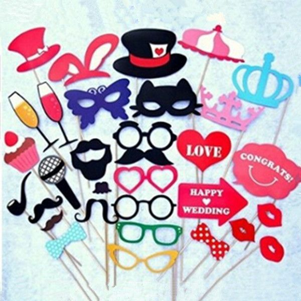 Mustache On A Stick Wedding Party Photo Booth Props Photobooth Funny Masks Bridesmaid Gifts For Wedding Decoration