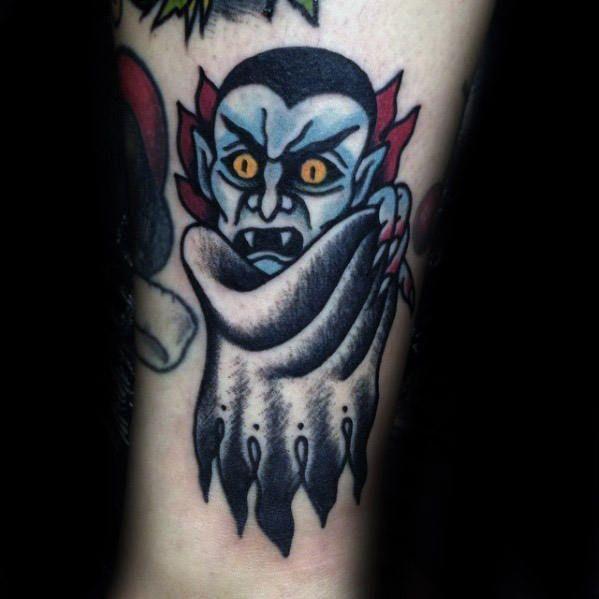 40 Dracula Tattoo Designs For Men - Blood Sucking Vampire Ideas
