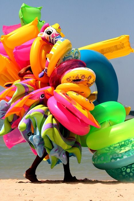 To the beach!!: Water Toys, Beaches Colors, Beaches Fun, Summer Beaches, Pretty Colors, Vibrant Colors, Beaches Ready, Beaches Toys, Summer Fun