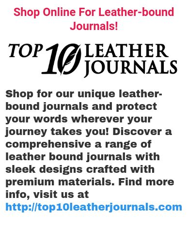 At Top 10 Leather Journals we offer high-quality personalized leather journals crafted with premium materials. Choose from our wide range of personalized leather journals with trendy design and elegant looks. Find more info, visit us at http://top10leatherjournals.com/