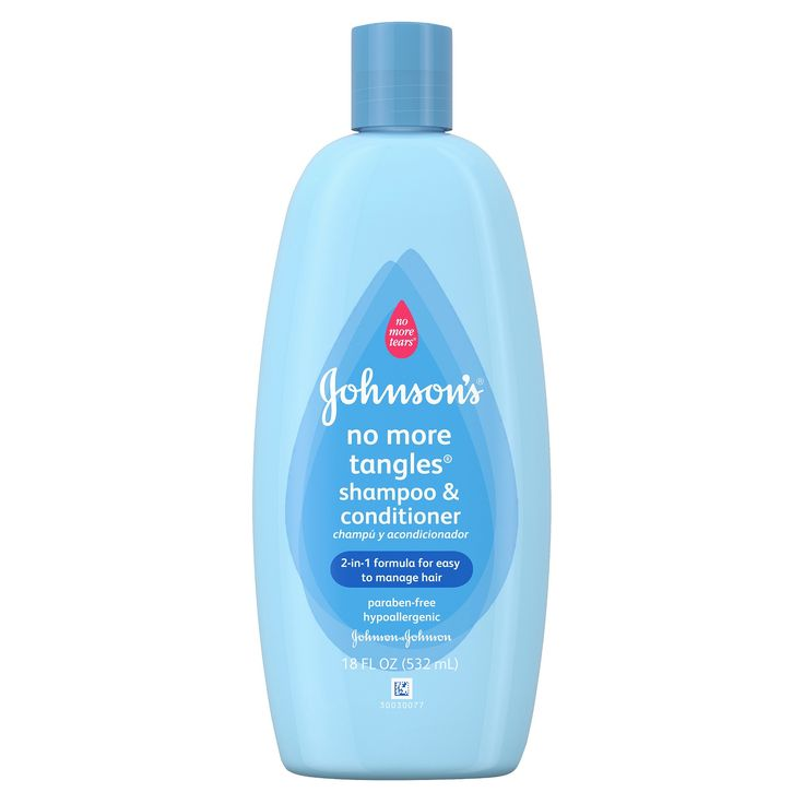 Johnson's Baby No-More-Tears Curly Hair Shampoo & Conditioner 18 fl oz