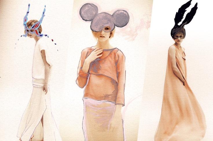 Illustrated Gabrielle Greiss' lookbook pics for Grazia.it