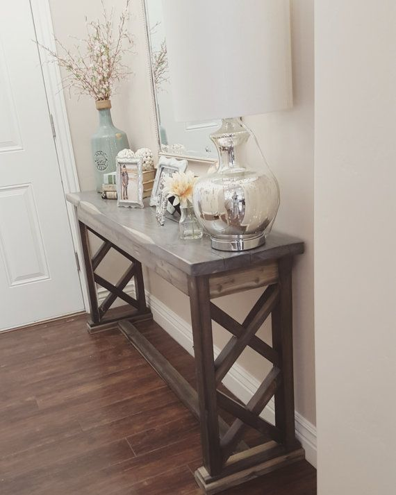 Foyer Table Farmhouse : Best ideas about rustic sofa tables on pinterest