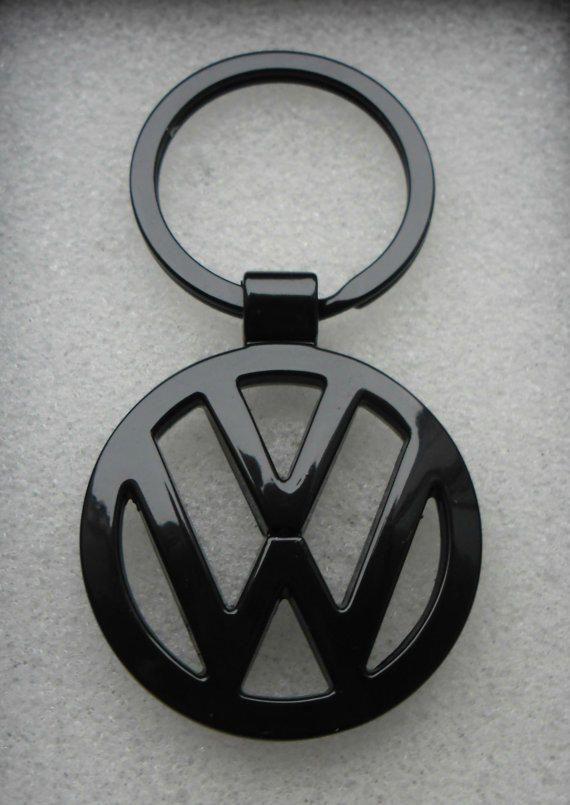 VW Volkswagen Gloss Black Satin Black Key Chain Ring Metal Passat Jetta Tiguan Golf CC GTI SportWagen Touareg Beetle from AutoArtMike on Etsy.