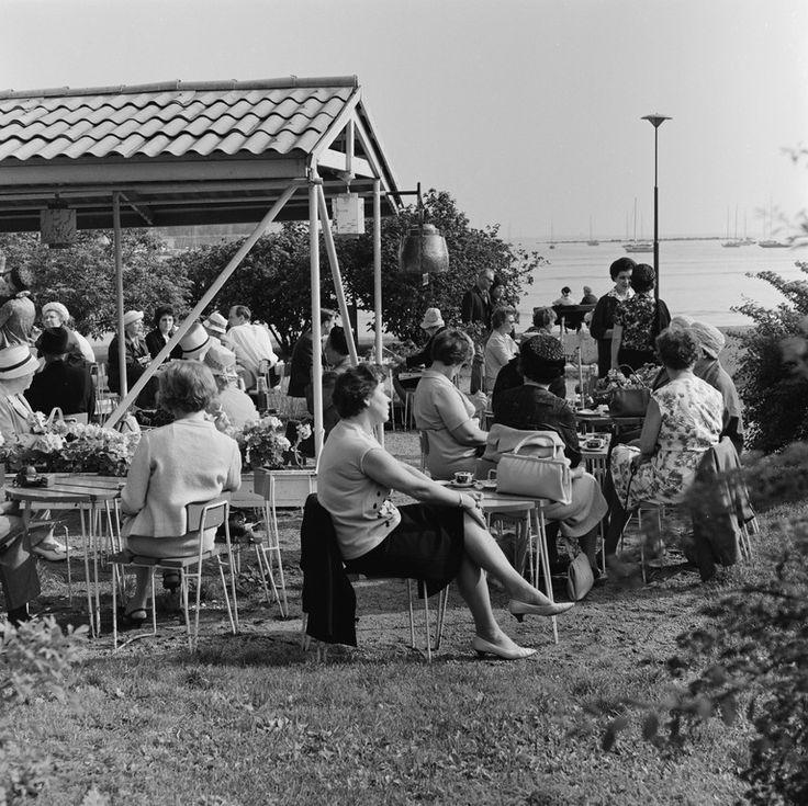 Kesäkahvila Kahvila Ursula, Ehrenströmintie 3. Bonin Volker von 1.9.1965—30.9.1965 Helsingin kaupunginmuseo negatiivi, filmi, mv