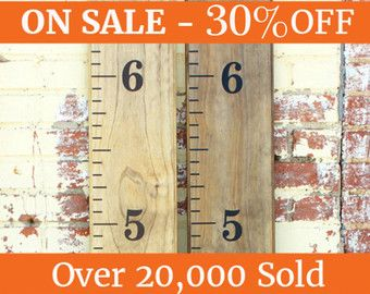 DIY Growth Chart Ruler Vinyl Decal Kit - Traditional style - Large #s