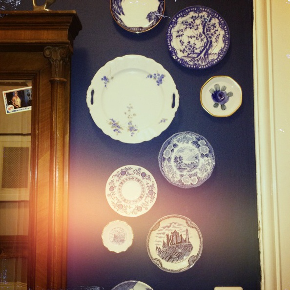 new plates in my hall