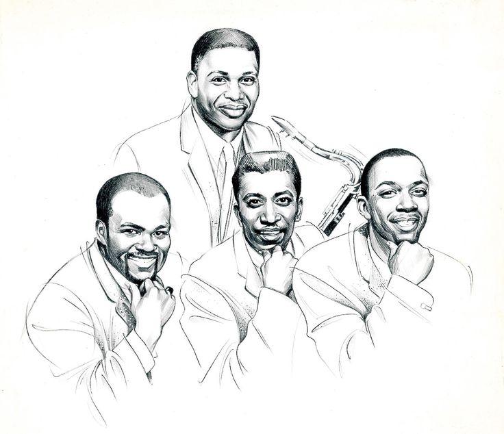 Jr. Walker and the All Stars Portrait - Original Published CD Cover Art For Motown - Signed. by tokyomodern on Etsy https://www.etsy.com/listing/174647582/jr-walker-and-the-all-stars-portrait