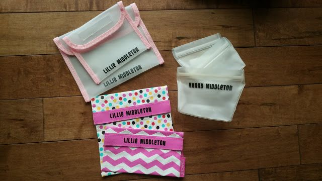 Labelled snack pouches using vinyl ... LOVE!!!