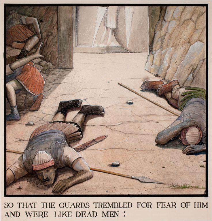 The Passion of Christ (So That The Guards Trembled…) | William Kurelek Canadian Catholic art