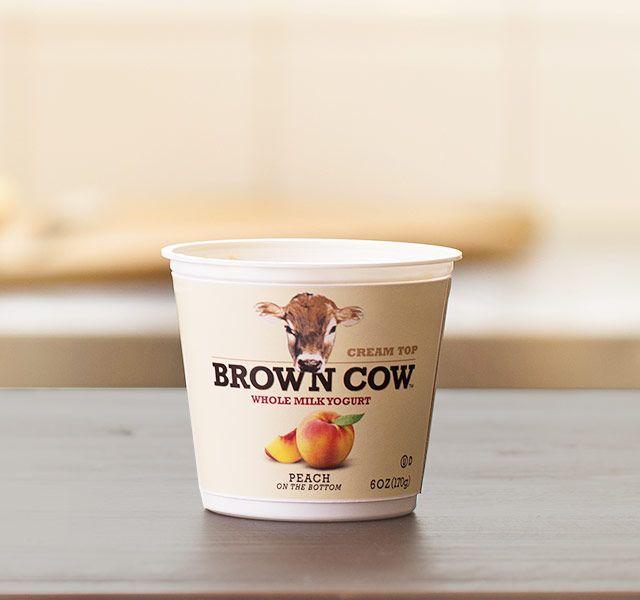 Peach : Brown Cow Yogurt