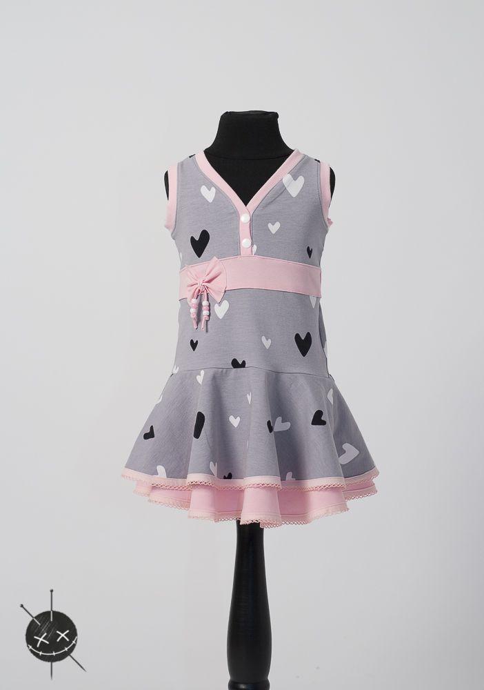 Süßes Kleid für Mädchen.  Schnitt Marita von M-Thieming