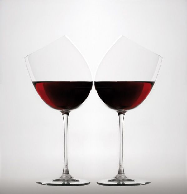 """Calici Caratteriali"" is a series of experimental wine glasses from Italian design studio Gumdesign - love the creativity!"
