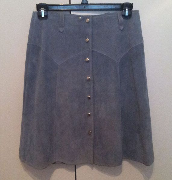 Vintage Suede Skirt early 70s. size 16. by SunDazeVintage on Etsy, €16.99
