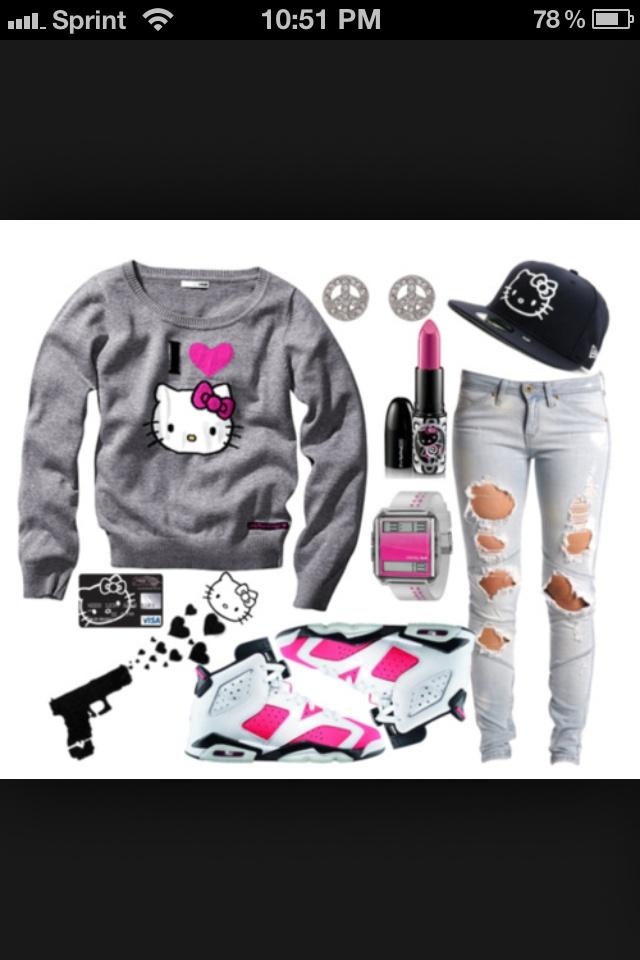 Kitty Gang Sweatshirt For Sale 87