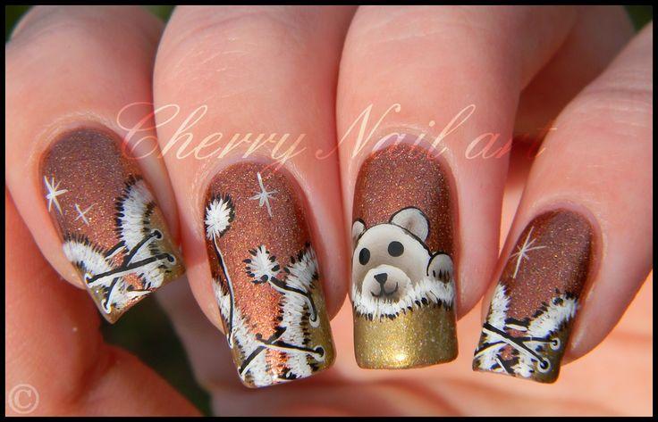 nail art noel 2013 facile