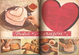 revista Lucia 60s: Pastel corazon