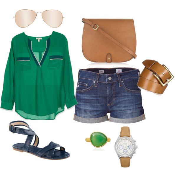 Green and Blue! Shirt and shoes!
