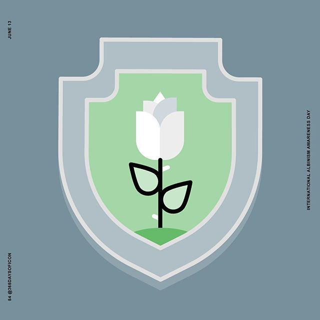 #365daysoficon #albinism #albino #strong #rose #whiterose #white #shield #vector #power