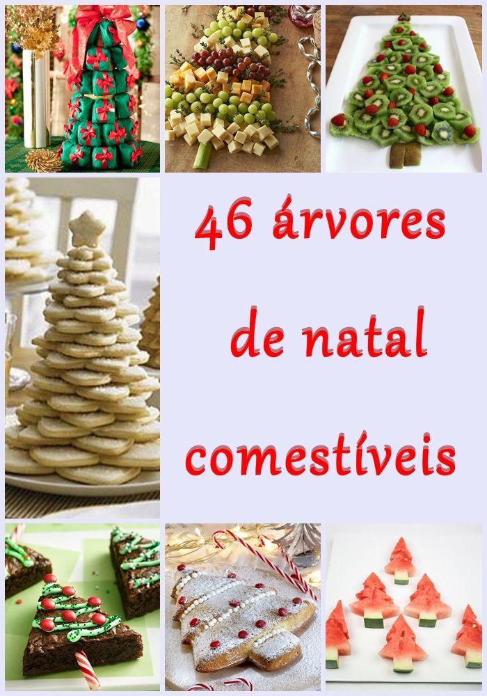Arvores de Natal comestíveis para decoração da mesa de Natal ou Ano Novo