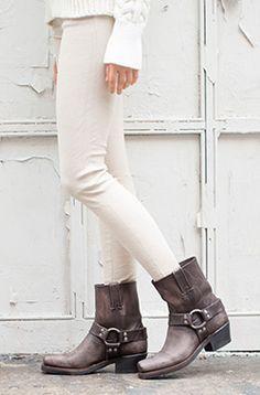 Versatile, Comfy Kicks: 3 of 2016's Best Women's Frye Harness Boots -- love this trio!  =)