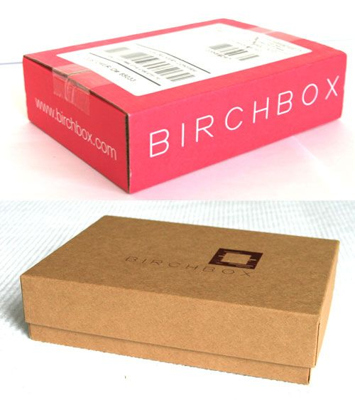 BirchBox is the biggest success so far in the subscription ecommerce market. However, corrugated cardboard gets damaged and doesn't create a sense of an upscale cosmetics brand so BirchBox also created a more refined, foil stamped inner box.