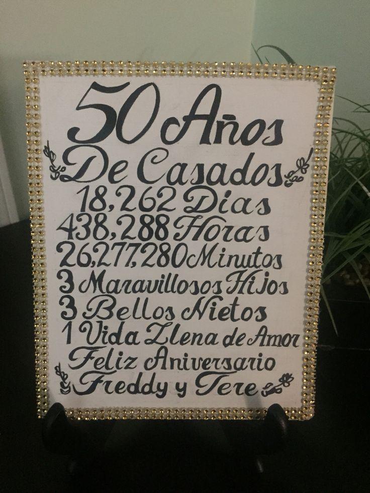 M s de 25 ideas incre bles sobre 50 a os de casados en for Decoracion 40 aniversario de bodas