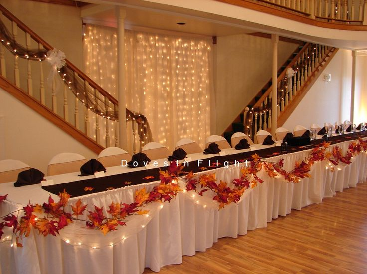 autumn wedding table decorations | need fall head table ideas - CafeMom @Karen Jacot Schlueter  I love love love this!!!