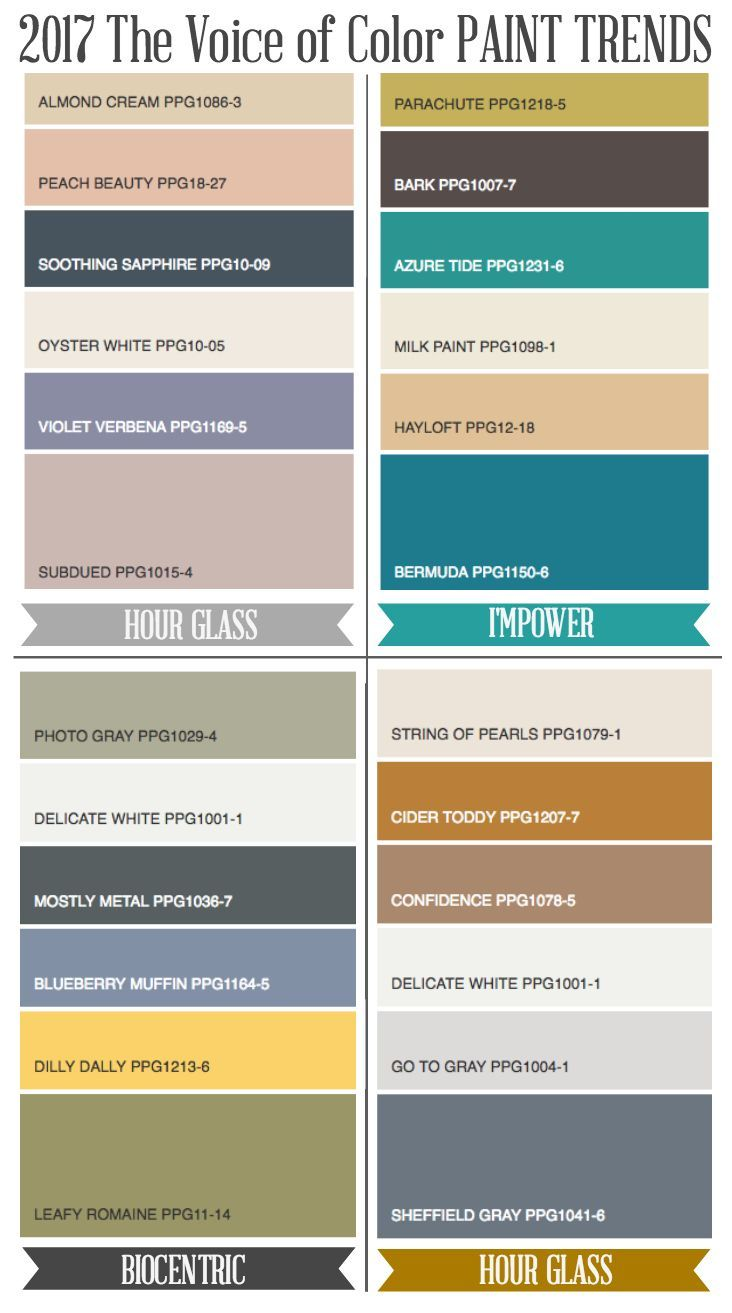 Popular Paint Colors 2017 273 best color schemes 2017-2018 images on pinterest | color