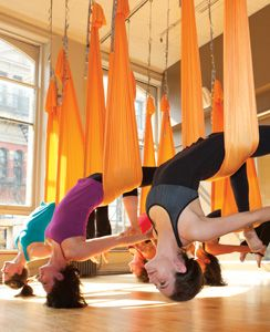 The Wackiest Workouts I've Ever Tried : Aerial Yoga- My Own Balance