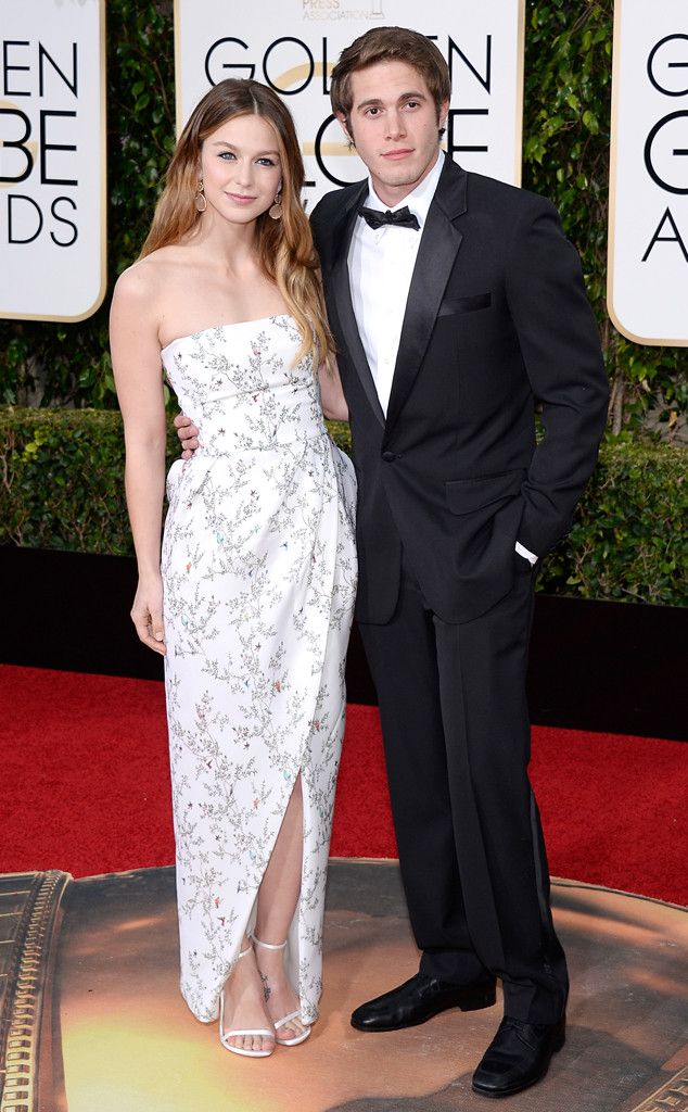 Melissa Benoist & Blake Jenner from Couples at the 2016 Golden Globes  Check out this good-looking twosome!