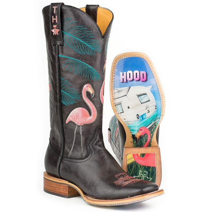 Tin Haul Women's Flamingo Western Boots