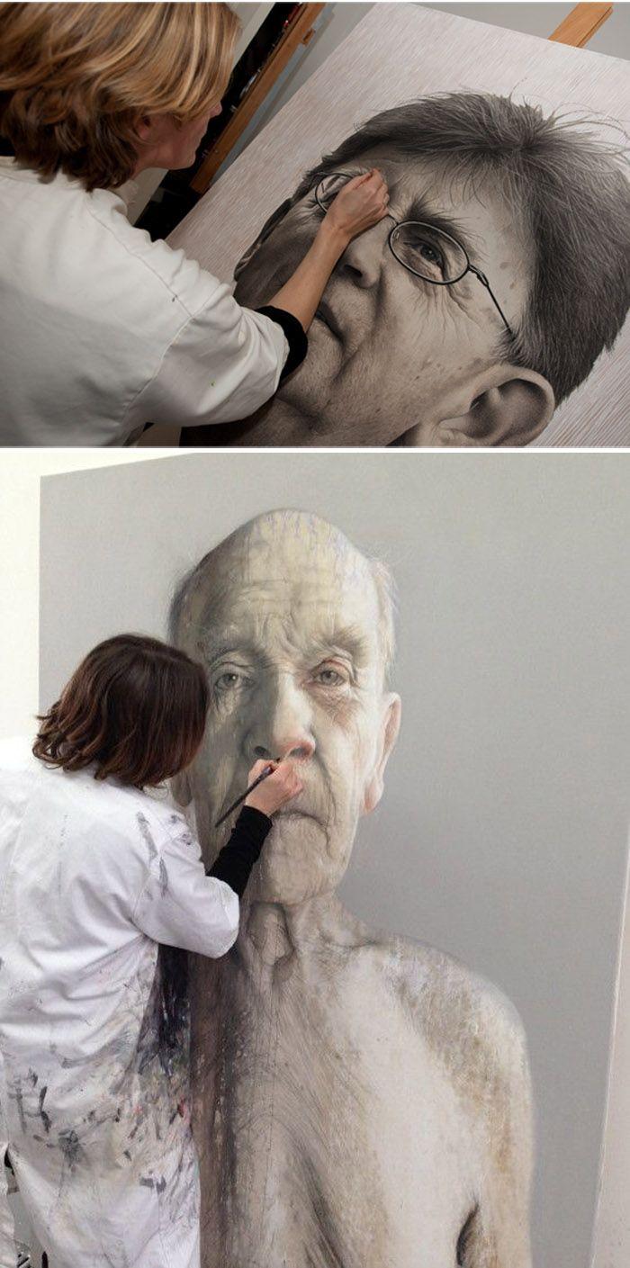 Annemarie Busschers at work ( http://www.saatchiart.com/abusschers )