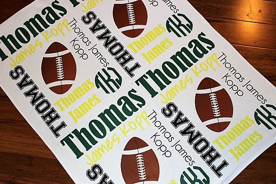 Personalized Football Baby Blanket  Football Blanket