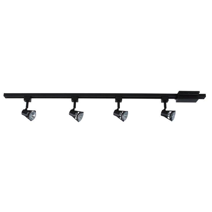 Lowes Track Lighting Fixtures: Project Source 4-Light 42-in Bronze Gimbal Linear Track