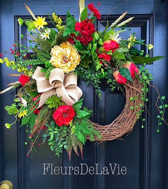 spring wreath for front door summer wreaths front door wreath grapevine door wreaths