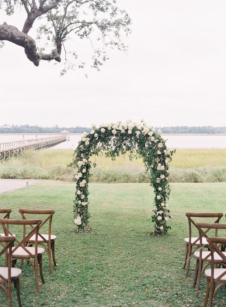 Wedding Ceremony, Lowndes Grove Plantation, Sara York Grimshaw Designs, Easton Events, Virgil Bunao Photography - South Carolina Wedding http://caratsandcake.com/aliceandforrest
