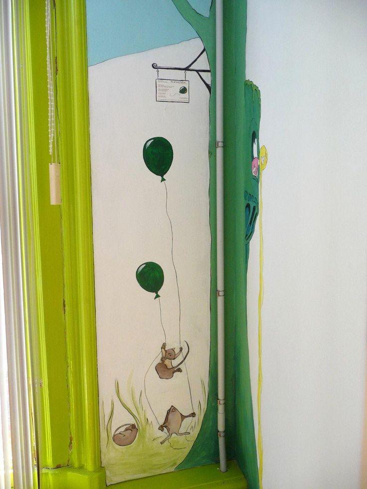 Sprookjes - rapunzel | muurschildering | kinderdagverblijf BSO | www.groeneballon.nl | Den Haag