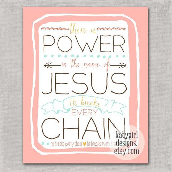 He Breaks Every Chain 8x10 Print by katygirldesigns on Etsy, $16.00