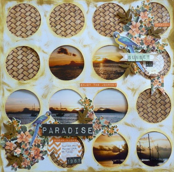 Scottie Crafts Blog: Sunset in Paradise by Beverley Paradiso by Kaisercraft
