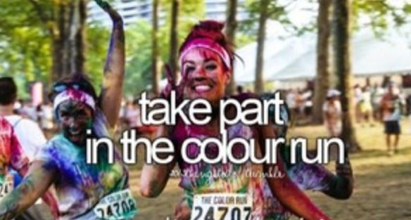 OMG you should have see me I was so colourful me and my friends took pics of us and it was funny we had are face with pant it was so cool