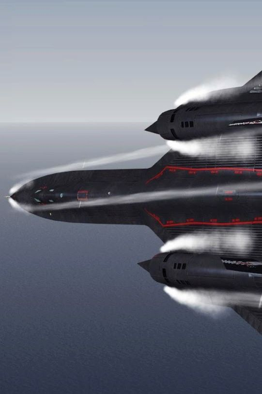 SR-71 Blackbird - high speed turn.... During reconnaissance missions the SR-71 operated at high speeds and altitudes to allow it to outrace threats. If a surface-to-air missile launch was detected, the standard evasive action was simply to accelerate and outfly the missile.
