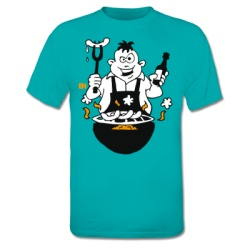 BBQ - Grill T-Shirt. #ShirtCity #Cardvibes #Tekenaartje #Grillfest