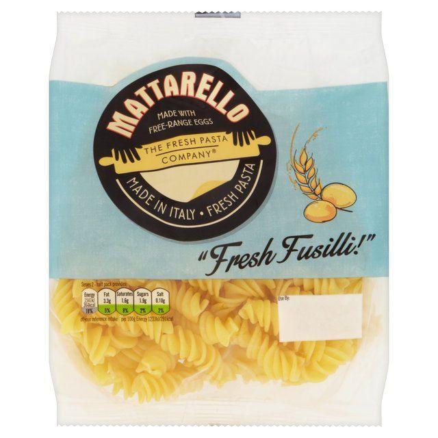 Fresh Pasta Co Fresh Egg Fusilli http://www.ocado.com