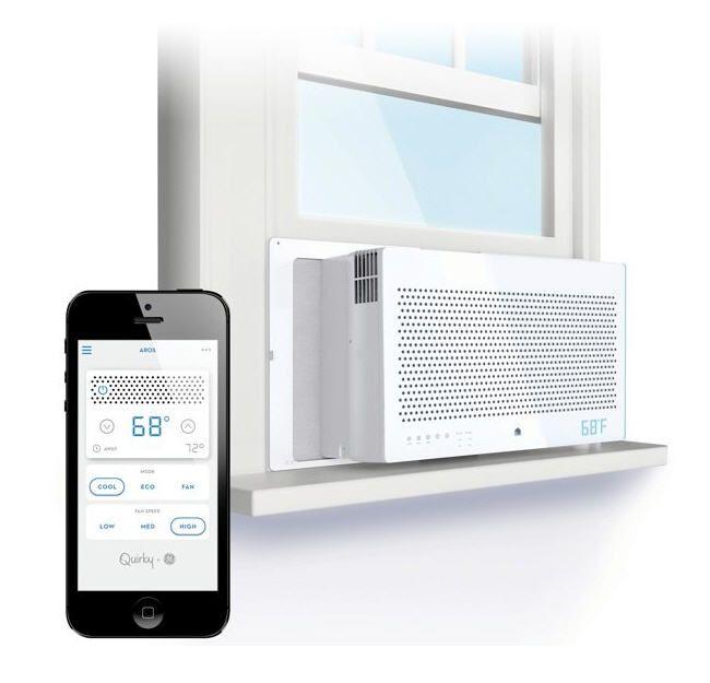 Quirky + GE Aros 8,000 BTU Smart Window Air Conditioner