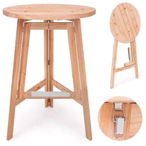 Toprix Superbe Table Pliante En Bois O Cm Table De Bistrot Pliante Neuf